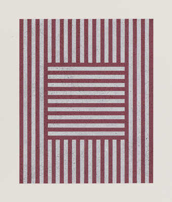 square of vertical stripes in rectangle of horizontal lines