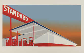 An image of a Standard gasoline station.