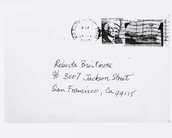 Photograph of envelope.