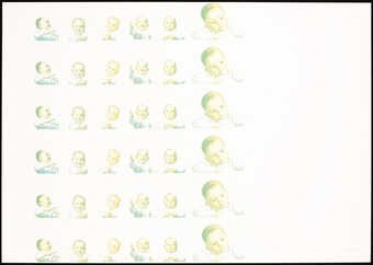 Columns of repeated images of a baby.
