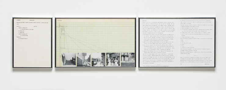 A conceptual study comprised of text panels, graphs and photographs.