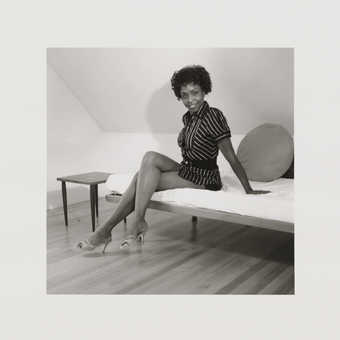 Black-and-white appropriated images from the 1950's-1960's, combined with images of the...