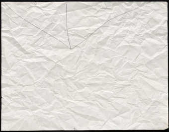 3 intersecting black lines on a sheet of crumpled paper.