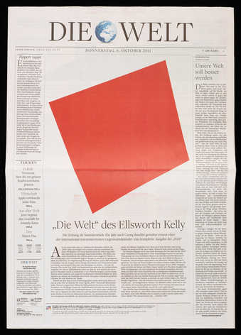 An issue Die Welt from October 6, 2011, in which all images have been replaced with images of...