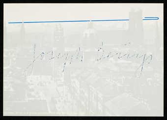 "Printed on reverse UL corner: ""originalgrafik • serie 4: münchen  /  nr. 3  joseph beuys  / ..."