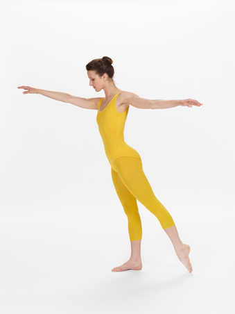 COSTUMES: Colored nylon leotards and tights, one polyester leotard, two wool leotardsFIRST...