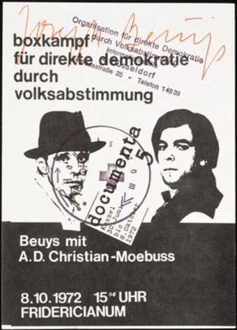 Printed as announcement card of boxing match (for &amp;quot;Direct Democracy through...