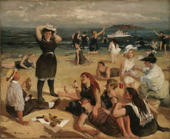 bathers at the beach