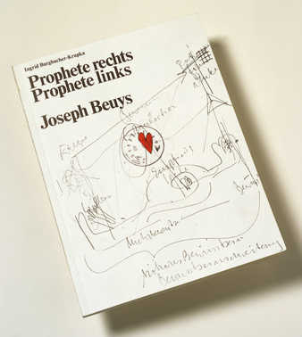 Bibliophile edition of a book by Ingrid Burgbacher-Krupka, elaborated by Beuys with various...
