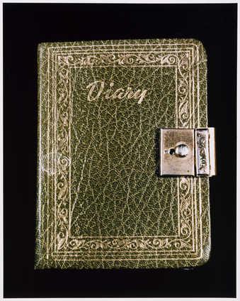 Photograph of Roberta's diary.