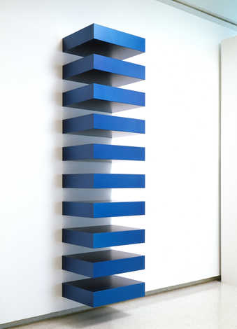 10 blue anodized aluminum boxes (refabricated 1982)