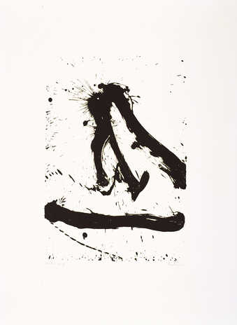 A lithograph printed from one zinc plate printed in black.