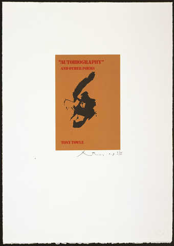 A lithograph from three aluminum plates printed in brown, red and black.  A commericial priniting...