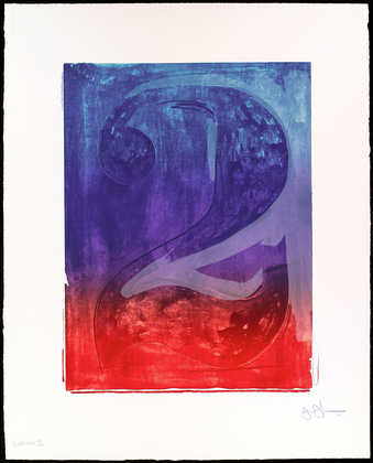 A color image of the figure 2.  A lithograph from one stone and two aluminum plates.