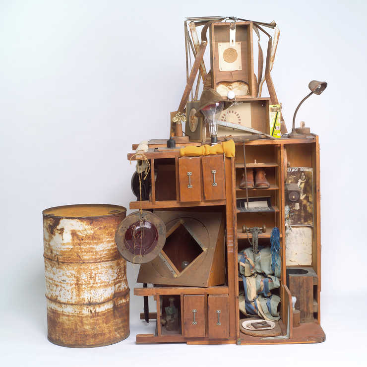 Assemblage of found objects collected as an homage to Wallace Berman.