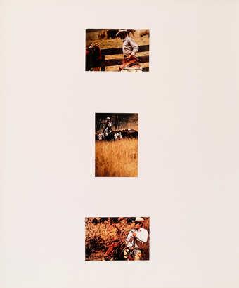 "A series of three photographs of ""Marlboro Men"" and nine photographs of women poising..."