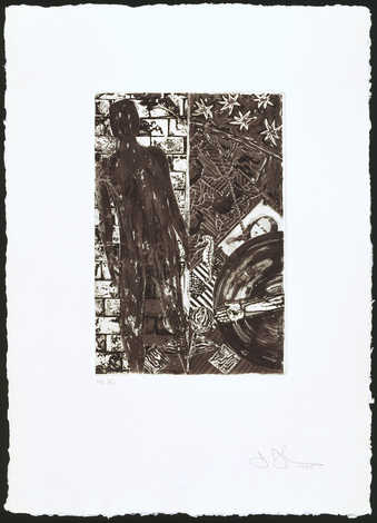 An image of the silhouette of a figure standing in front of a brick wall, L, on right an image of...