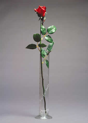 Glass cylinder (.1) is shown with a fresh, long-stemmed rose to be changed weekly or as needed....