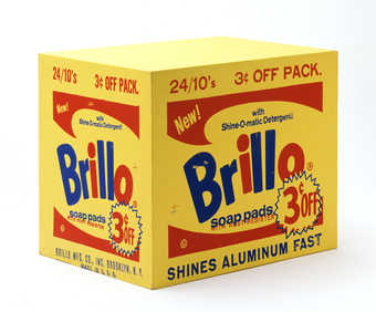 a wooden painted /printed Brillo grocery store box
