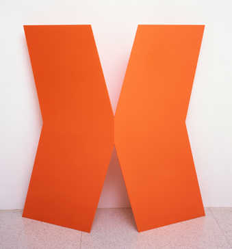 "shape of an""X"" in orange with slight bend in center; one of Kelly's earliest..."