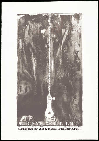 Black and white image of a lightbulb hanging from a cord.  In white letters across bottom...