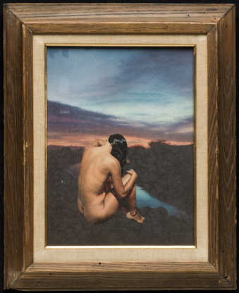 nude, back turned, shore