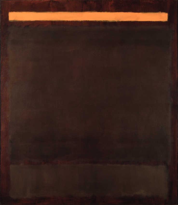 Dark brown painting