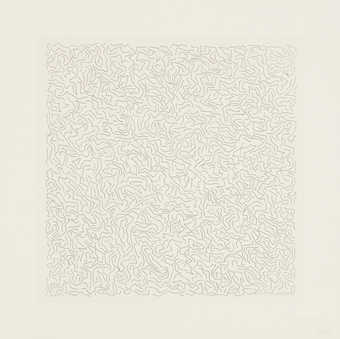A series of 6 line etchings, 3 images printed in both white and black. Hardground etchings with...