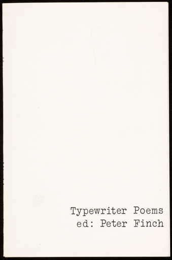 A book of poems by various artists, all using the typewriter to form different shapes with the...