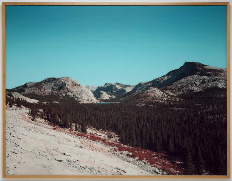 A digitally manipulated image of Tenaya Lake in Yosemite.