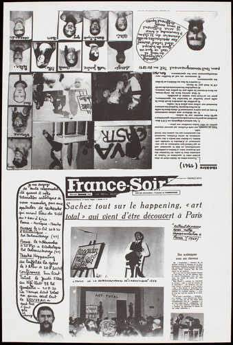 Black offset on white paper; poster for a week long event in Nice, Oct. 31 - Nov. 7, 1964,...