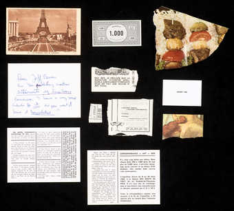 A transparent envelope containing assorted material, addressed to Jeff Berner.